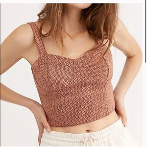 NWT Free People Copper Combo Cropped Tank Top